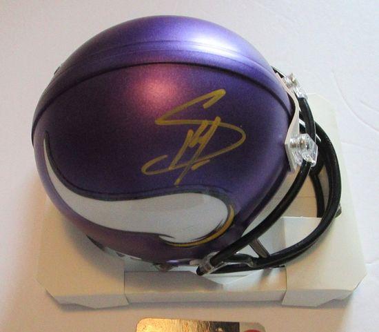 Stefon Diggs, Minnesota Vikings Star, Autographed Mini Helmet w COA
