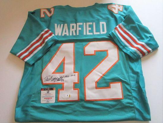 Paul Warfield, NFL Hall of Fame, Miami Perfect Season, Autographed Jersey w COA