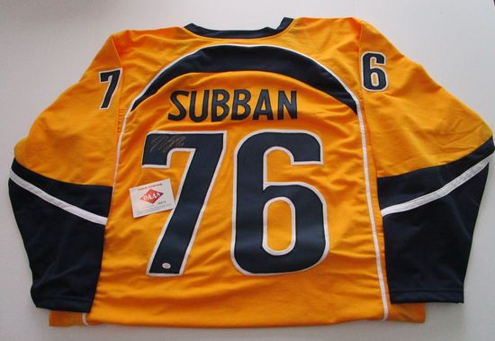 P,K. Subban, Nashville Predators Star Defenseman, Autographed Jersey w COA