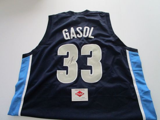 Marc Gasol, Memphis Grizzlies star Center, 3 time All Star Autographed Jersey w COA