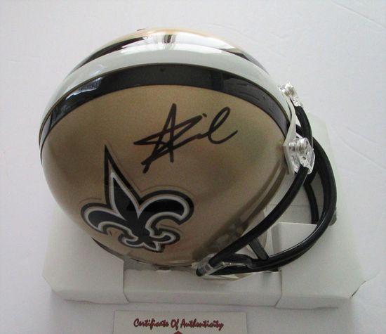 Alvin Kamara, New Orleans Running Back, 2 Time Pro Bowler, Autographed Mini Helmet w COA