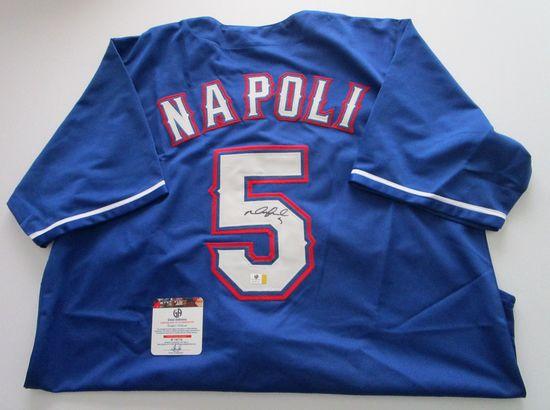 Mike Napoli, Texas Rangers Catcher, World Series Champion, Autographed Jersey w COA