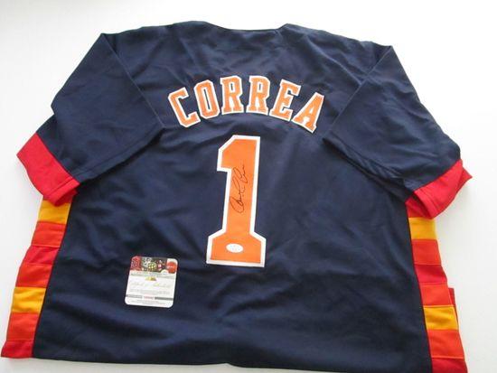 Carlos Correa, Houston Astros Shortstop, World Series Champion, Autographed Jersey w COA