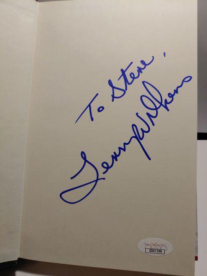 LENNY WILKENS SIGNED BOOK JSA COA CERTIFIED