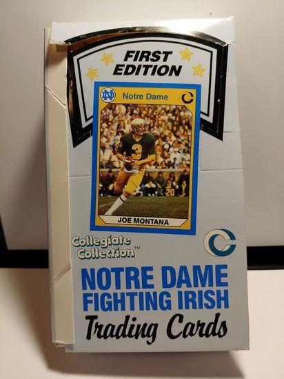 NOTRE DAME COMPLETE WAX BOX JOE MONTANA PRE ROOKIE INSIDE BOX
