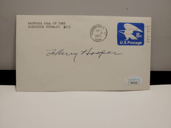 HALL OF FAMER HARRY HOOPER SIGNED JSA COA