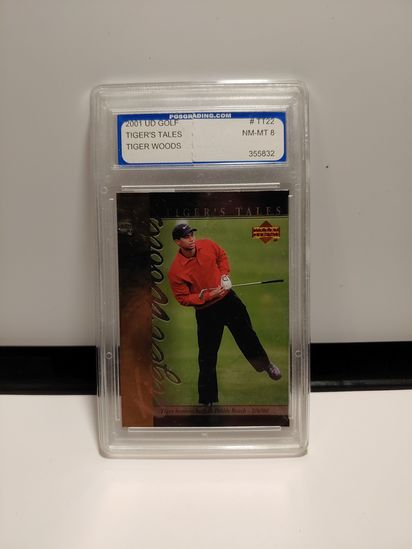 TIGERS TALE TIGER WOODS GRADED 8 CARD IN HOLDER