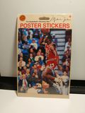 VINTAGE MICHAEL JORDAN POSTER STICKER NEW IN PACKAGE HARD TO FIND