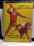 UNIVERSITY OF UTAH VS SANTA CLARA 1940 VINTAGE FOOTBALL PROGRAM