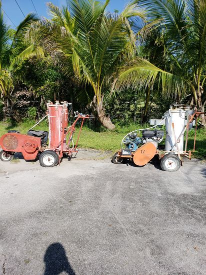 2 Gas Powered Paint Line Sprayers Stripers