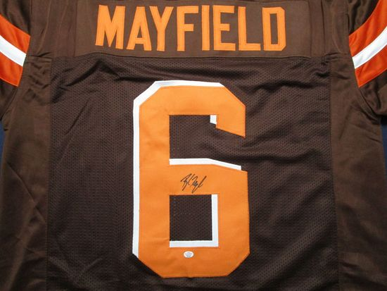 Baker Mayfield of the Cleveland Browns signed autographed football jersey PAAS COA 229