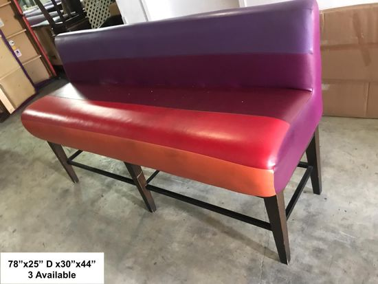 3 Restaurant Barstool Bench