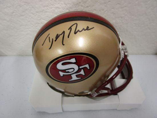 Jerry Rice of the San Francisco 49ers signed autographed mini football helmet PAAS COA 210