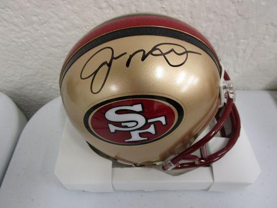 Joe Montana of the San Francisco 49ers signed autographed mini football helmet CA COA 152