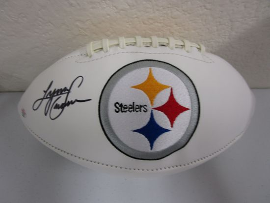 Lynn Swann of the Pittsburgh Steelers signed autographed logo football PAAS COA 976