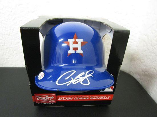 Alex Bregman of the Houston Astros signed autographed mini batting helmet PAAS COA 182