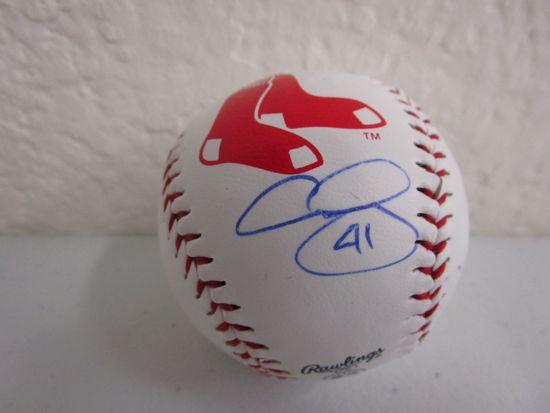 Chris Sale of the Boston Red Sox signed autographed logo baseball CA COA 284