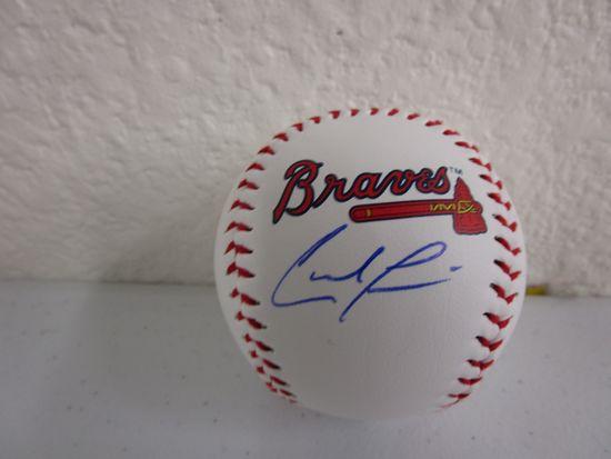Ronald Acuna Jr of the Atlanta Braves signed autographed logo baseball CA COA 287