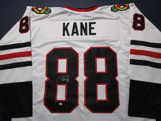 Patrick Kane of the Chicago Blackhawks signed autographed hockey jersey PAAS COA 224