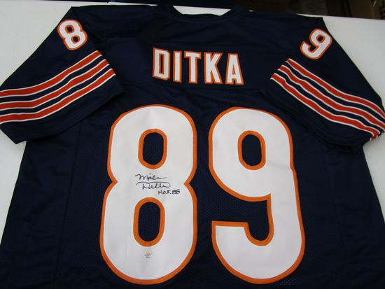 Mike Ditka of the Chicago Bears signed autographed football jersey PAAS COA 191