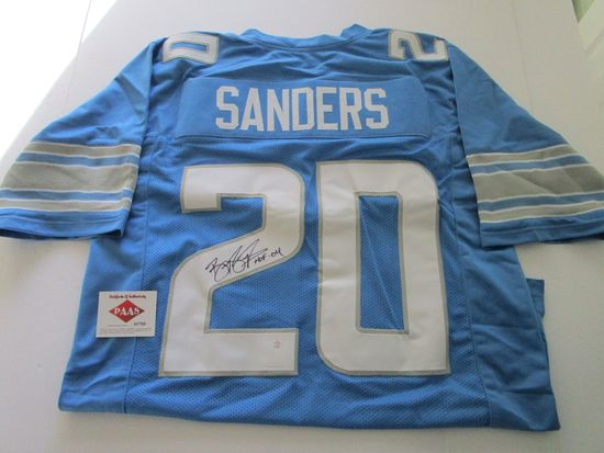 Barry Sanders, Detroit Lions Running Back, NFL Hall of Fame, Autographed Jersey w COA