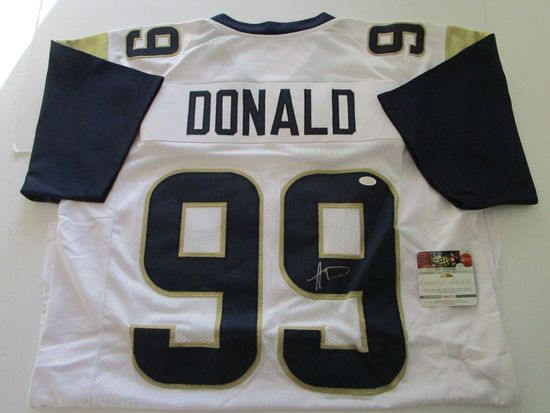 Aaron Donald, St Louis Rams, 2 Time Defensive Player of Year, Autographed Jersey w COA