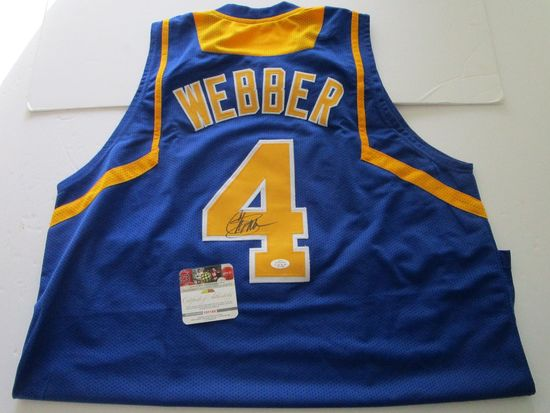 Chris Webber, Michigan Forward, 5 time NBA All Star, Autographed Jersey w COA