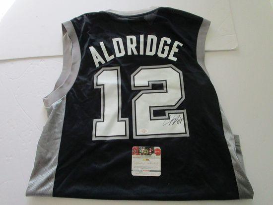 LaMarcus Aldridge, San Antonio Spurs, 7 Time All Star, Autographed Jersey w COA