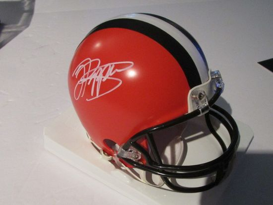Jabril Peppers, Cleveland Browns, Pro Bowler, Autographed Mini-Helmet w PAAS COA