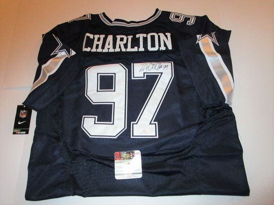 Taco Carlton, Dallas Cowboys Star Linebacker, Autographed Jersey w COA