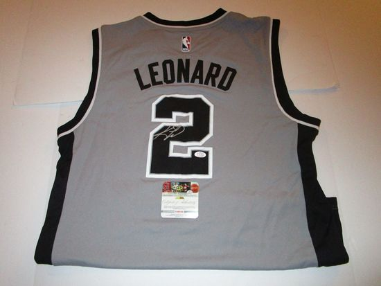 Kawhi Leonard, San Antonio Spurs, 3 time All Star, Autographed Jersey w COA