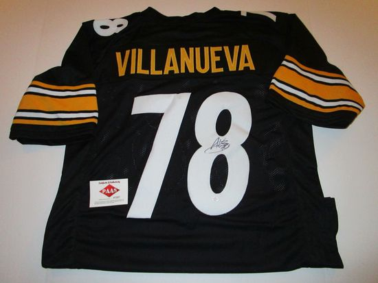 Alejandro Villanueva, Pittsburgh Steelers Tackle, 2 time Pro Bowler, Autographed Jersey w COA