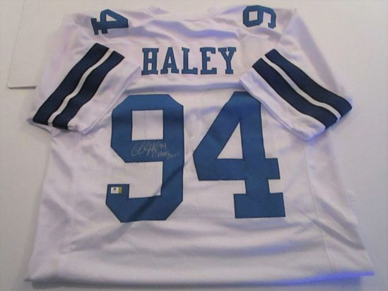Charles Haley, Dallas Cowboys, NFL Hall of Fame, Autographed Jersey w COA