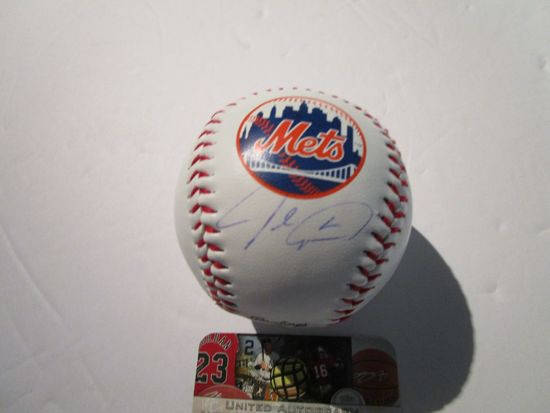 Jacob DeGrom, NY Mets, Cy young Winner, Autographed Baseball w COA