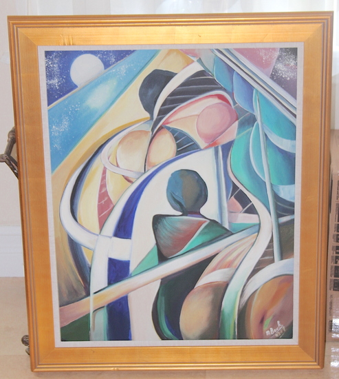 "MICHELE BOULOS ORIGINAL ""DREAM OF A WOMAN (FEMMME)"" 24X30"