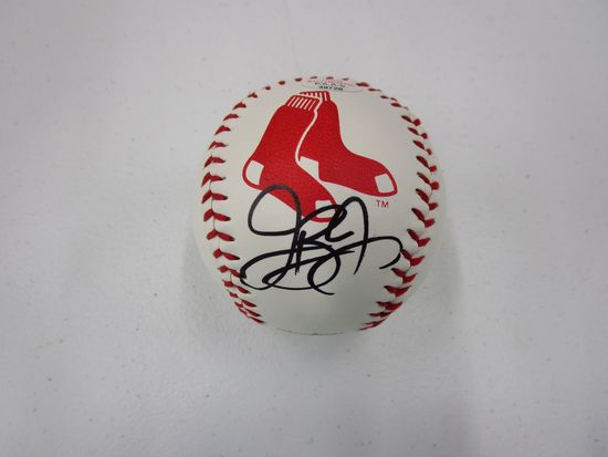 Jackie Bradley Jr of the Boston Red Sox signed autographed logo baseball PAAS COA 729