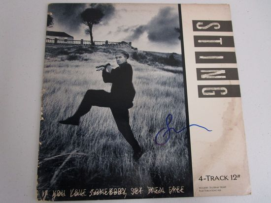"Sting ""If you Love Somebody, Set them Free"" signed autographed record album CA COA 106"