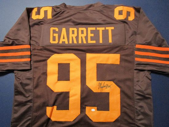 Myles Garrett of the Cleveland Browns signed autographed football jersey PAAS COA 653