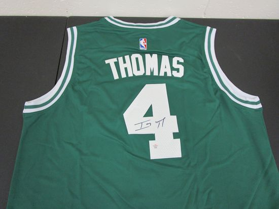 Isaiah Thomas of the Boston Celtics signed autographed basketball jersey PAAS COA 369