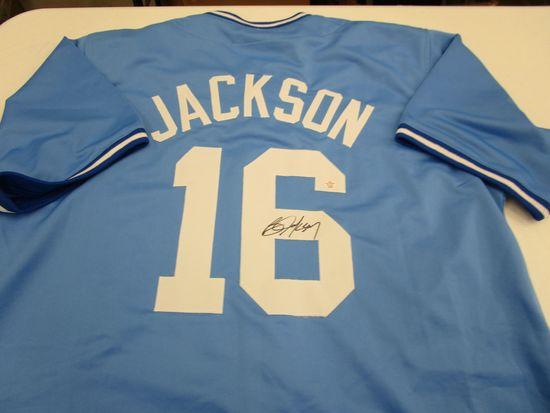 Bo Jackson of the Kansas City Royals signed autographed baseball jersey PAAS COA 638