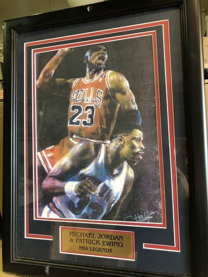 Framed Michael Jordan Art Piece