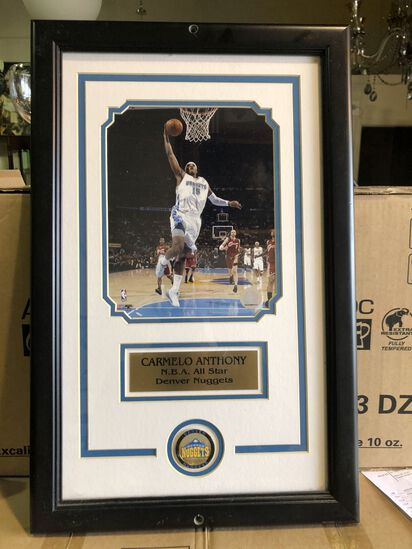 Framed Carmello Anthony