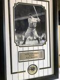 Framed Lou Gehrig Hall of Fame Yankee art piece