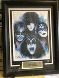 Framed Kiss Rock Legends art piece