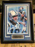Framed Peyton Manning Art Piece