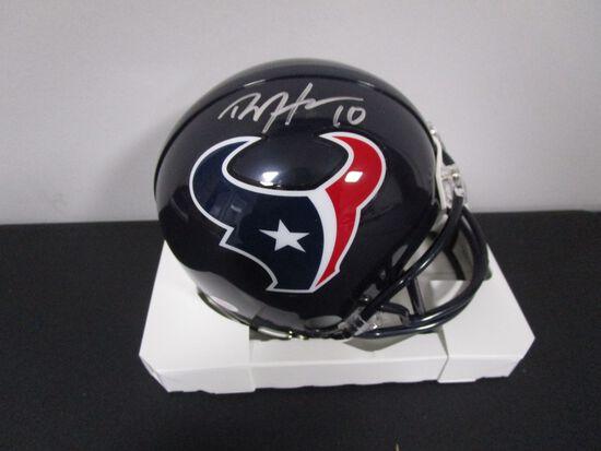 DeAndre Hopkins of the Houston Texans signed autographed mini football helmet PAAS COA 883