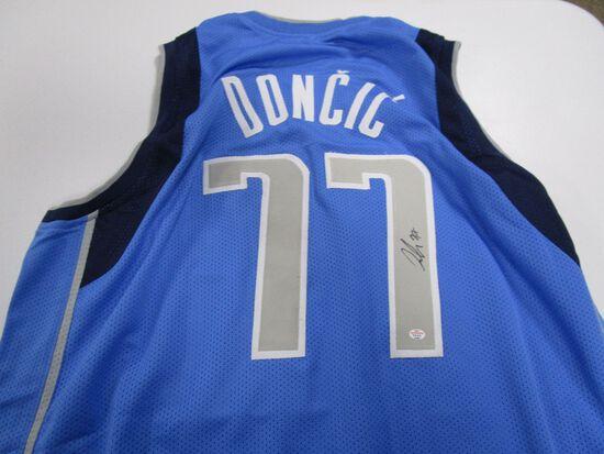 Luka Doncic of the Dallas Mavericks signed autographed basketball jersey PAAS COA 481