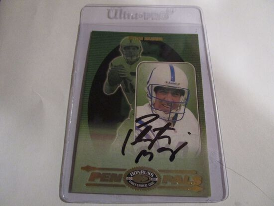 Peyton Manning of the Indianapolis Colts signed 2000 Donruss Preferred Pen Pals football card