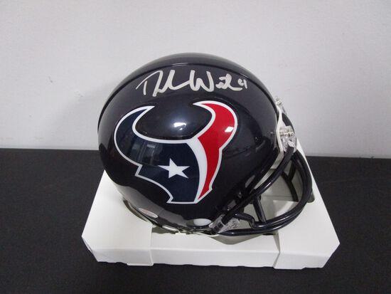 Deshaun Watson of the Houston Texans signed autographed mini football helmet PAAS COA 890