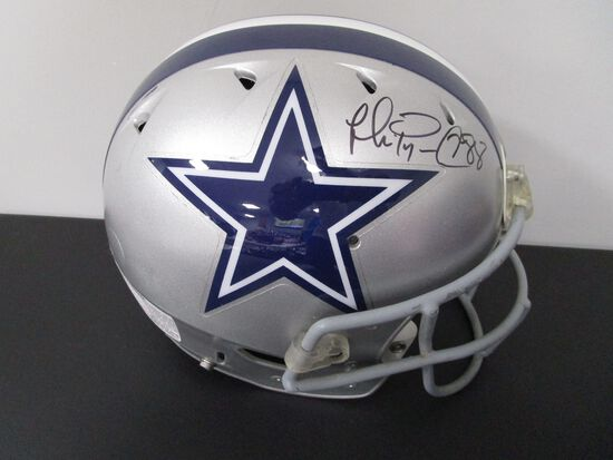 Michael Irvin of the Cowboys signed full size SB XXVIII CUSTOM football helmet PAAS COA 726